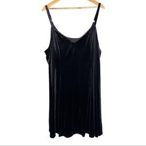 Torrid Black Velour Slip Dress NWT Size 3